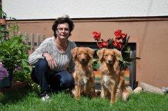 Brigitte mit Numa und Nayeli