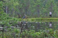 Jagdprüfung Schweden: Markierung fällt am gegenüberliegenden Ufer
