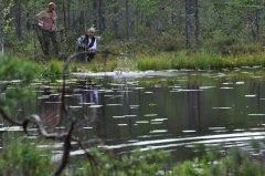 Jagdprüfung Schweden: Einstieg ins Wasser bei Doppelmarkierung
