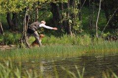 Jagdprüfung Schweden: Einweisen auf Blind über Wasser